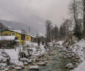 The most beautiful village of Ramsau Germany Stock Photo 03