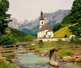 The most beautiful village of Ramsau Germany Stock Photo 04