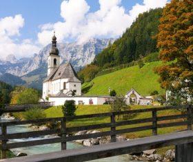 The most beautiful village of Ramsau Germany Stock Photo 06