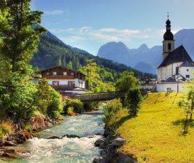 The most beautiful village of Ramsau Germany Stock Photo 07