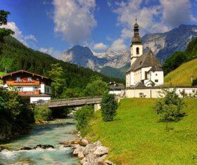 The most beautiful village of Ramsau Germany Stock Photo 08