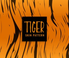 Tiger skin pattern vector material 01