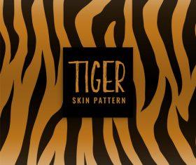 Tiger skin pattern vector material 02