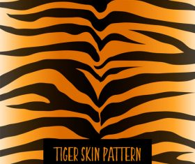 Tiger skin pattern vector material 03