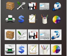 Tool icon vector material