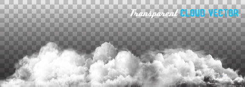 Transparent clouds panorama vector illustration 01