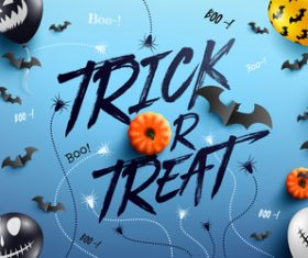 Trick or treat halloween background design vector 01