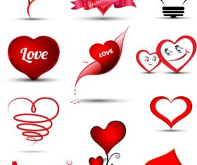 Various heart pattern vectors