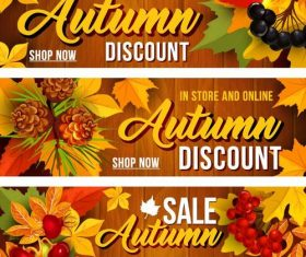 Vector autumn sale banners material 03