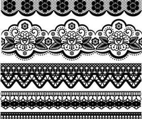 Vector borders lace design 01