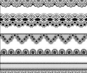 Vector borders lace design 02