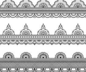 Vector borders lace design 03