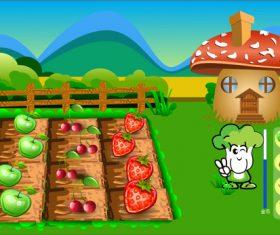 Vector farm material illustration