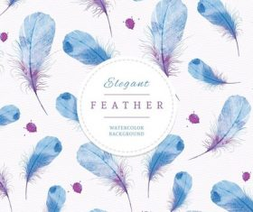 Vector feather background illustration design