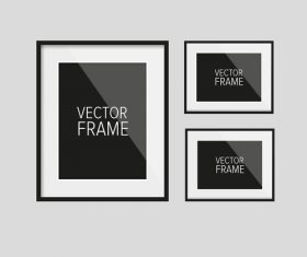 Vector photo frame material 04
