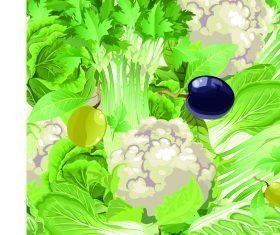 Vegetable mix vector background illustration