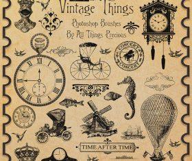 Vintage Things Brushes Photoshop