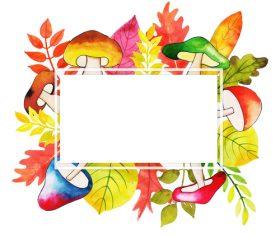 Watercoloro autumn leaves background vectors