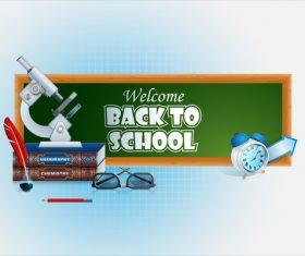 Welcome back to school design vectors