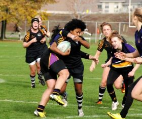 Womens rugby match Stock Photo 01