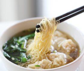 Wonton noodles Stock Photo