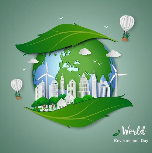 World environment day poster template vector