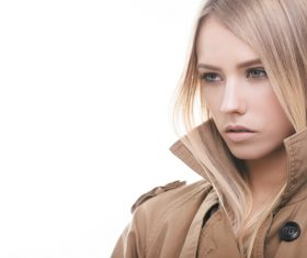 Young girl wearing a coat Stock Photo 02