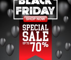 black friday special sale poster vector template 01
