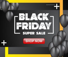 black friday special sale poster vector template 04