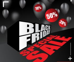 black friday special sale poster vector template 05