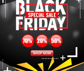 black friday special sale poster vector template 06
