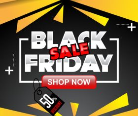 black friday special sale poster vector template 07