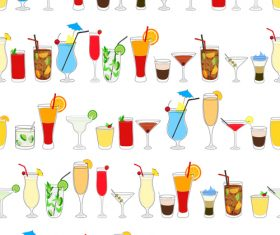 cocktail drink seamless pattern vector material