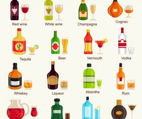 drink cup glass bottle vector material