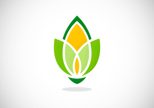 flower plant ecology organic abstract vector logo