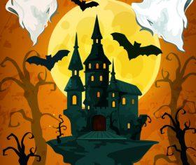 halloween horror night poster design vector 02