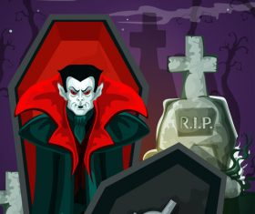 halloween horror night poster design vector 03