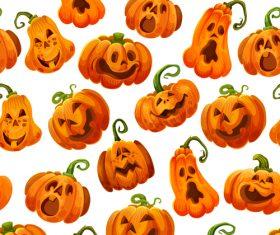 halloween pumpkin vector seamless pattern