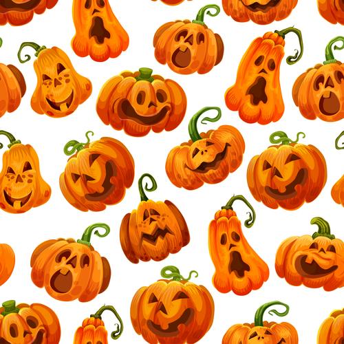 Halloween Pumpkin Vector.Halloween Pumpkin Vector Seamless Pattern Free Download