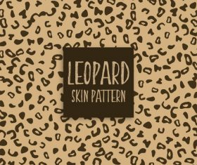 leopard skin pattern vector material