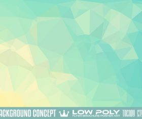 low Poly geometric polygon background art vector 01