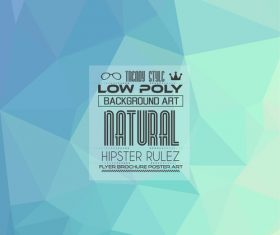 low Poly geometric polygon background art vector 02