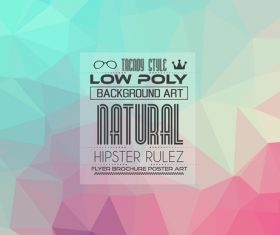 low Poly geometric polygon background art vector 03
