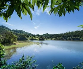 picturesque landscape of lakes Stock Photo 06