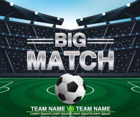 soccer big match poster template vector
