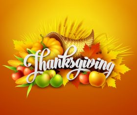 thanksgiving festvial design vector material 01