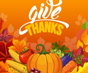 thanksgiving festvial design vector material 02