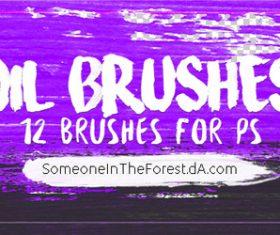12 Kind Oil Photoshop Brushes