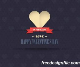 14 february happy valentine day card vectors