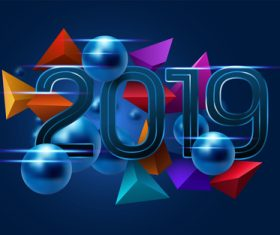 2019 new year concept backgrounds vector
